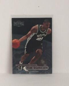 Tim Duncan 1997 98 Metal Universe Basketball Rookie Card 72 Spurs