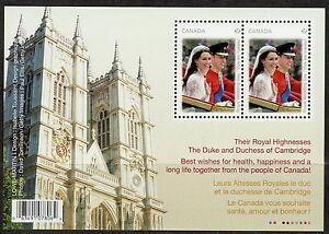 Canada-2477-Royal-Wedding-Day-Souvenir-Sheet-MNH