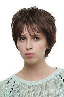 Ladies' Wig Wig Short Toupierte Denise Strands Braun Approx. 25 Cm 1247-6