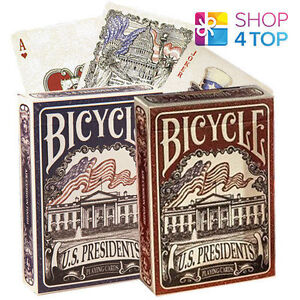BICYCLE-US-PRESIDENTS-PLAYING-MAGIC-TRICKS-POKER-CARDS-DECK-BLUE-RED-USA-NEW