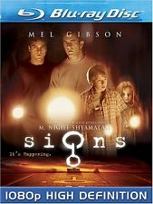 Signs Blu-ray Mel Gibson Science Fiction Mystery Thrillers Phoenix Drama Aliens