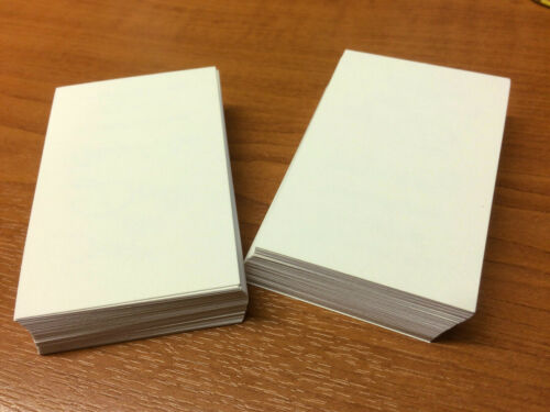 Smooth Cream Card Print 100 Ivory Cream Blank Business Cards 48x90mm for Stamp