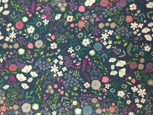 Cotton Fabric Blooming Ground Flower Child by Maureen Cracknell Luscious