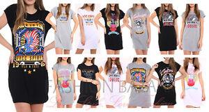 Mini-Vestido-Mujer-Vintage-Rock-nacido-Para-Volar-Larga-camiseta-Fiesta-Camiseta-De-Vacaciones