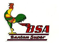 BSA BANTAM SUPER Vinyl DECAL STICKER NORTON TRIUMPH MOTORCYCLE WORKSHOP ARIEL !