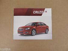 2014 Chevrolet Chevy Cruze LS LT LTZ ECO Original Sales Brochure Dealer Catalog