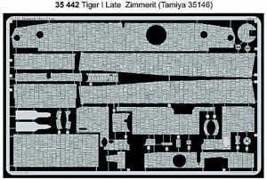 Eduard-1-35-Zimmerit-Tiger-I-Late-for-Tamiya-kit-35442