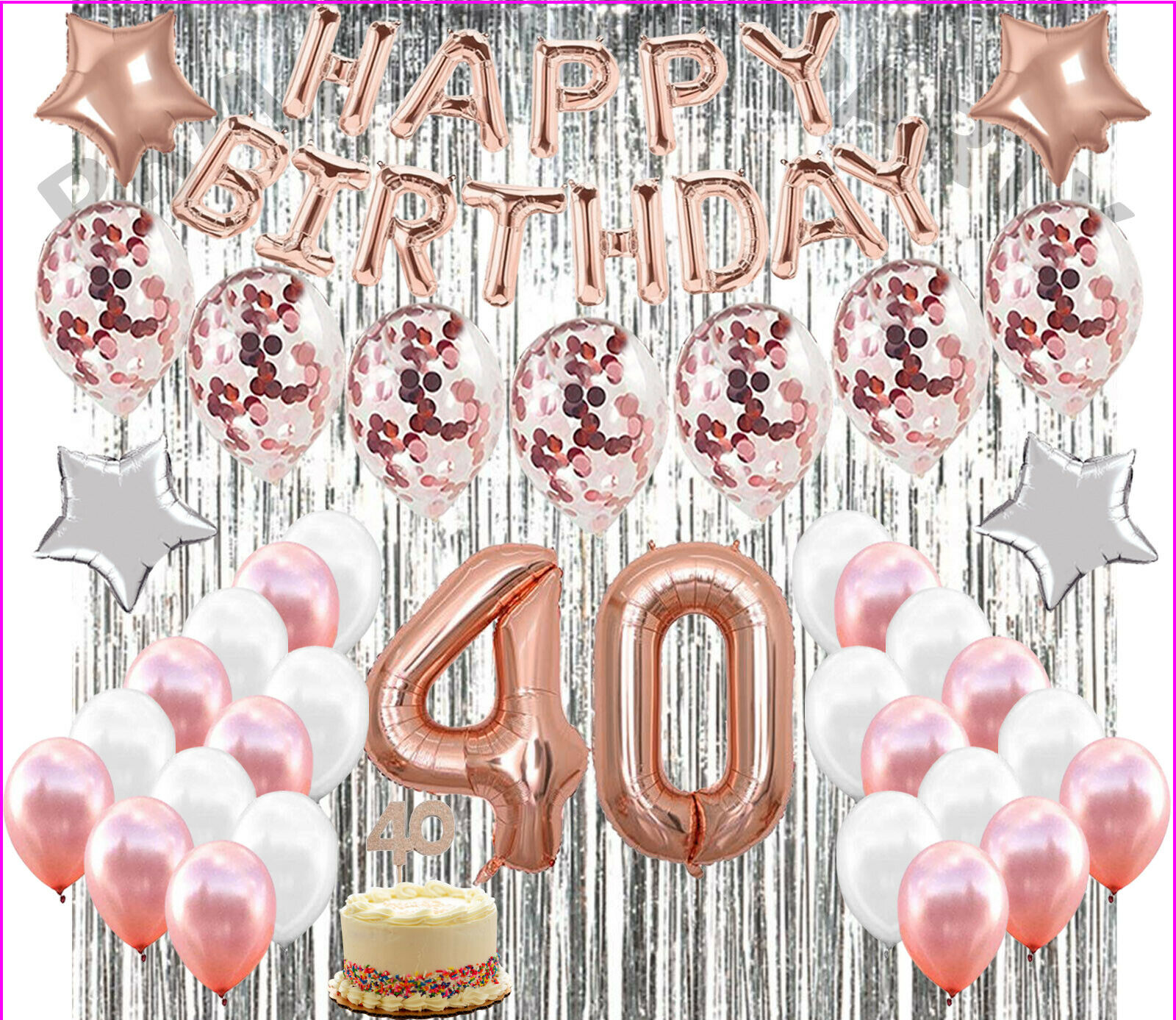 40th Birthday Sign Never Looked So Good Colormoon Large 40th Birthday Banner 9.8 x 1.5 feet 40th Birthday Party Supplies Decorations