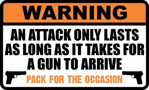 WARNING TERRORIST 2ND AMMENDMENT GUN DECAL WINDOW BUMPER STICKER ELECTION