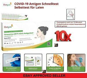 10x Corona Schnelltest Laien Test Covid19 Antigen Sars Antikörper - von HOTGEN®