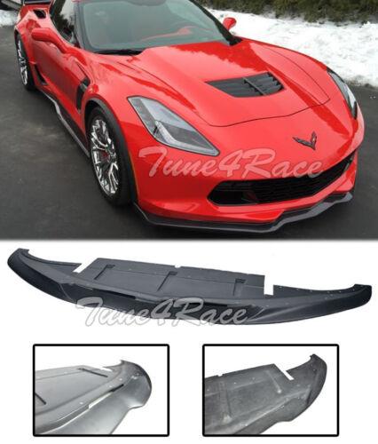 For 14-UP Corvette C7 Stingray Aero Front Bumper Splitter Lip Kit Fiber Glass