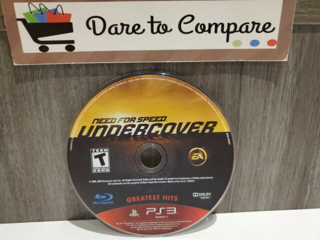 Need for Speed: Undercover (Sony PlayStation 3, 2008) Disc Only