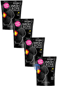 4-x-350g-VELVET-BLACK-DYLON-WASH-amp-DYE-FABRIC-CLOTHES-DYE-GREAT-VALUE