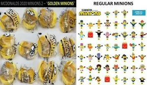 McDonalds Minion 7pc GOLD set #1-7  sealed quick free shipping SOLD OUT in store