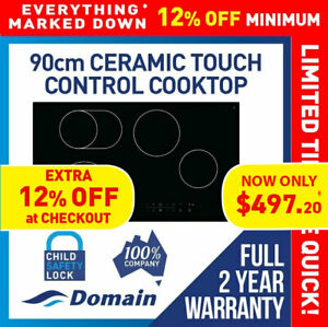 NEW 90cm CERAMIC GLASS TOUCH CONTROL ELECTRIC COOKTOP