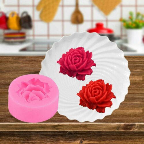 3D Rose Flower Silicone Fondant Cake Mould Decor Chocolate Baking Mold Tool New