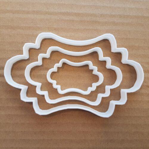 Placa Panel de placa espejo forma Cookie Galleta Pastelería Stencil de masa