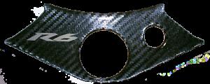 Carbon-Effect-3D-Resin-Domed-Top-Yoke-Trim-For-Yamaha-YZF-R6-Model-1999-2002