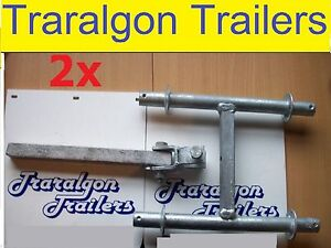 2x-galvanised-galvanized-quad-wobble-roller-bracket-multi-boat-ski-trailer-G181