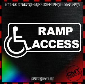 Brillant Rampe D'accès Voiture Décalque Autocollant Blue Badge Mobilité - 17 Couleurs-afficher Le Titre D'origine