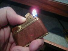 OLD PRINCE ALPCO JAPAN LIGHTER GOLD TONE  WORKS LOOKS GOOD