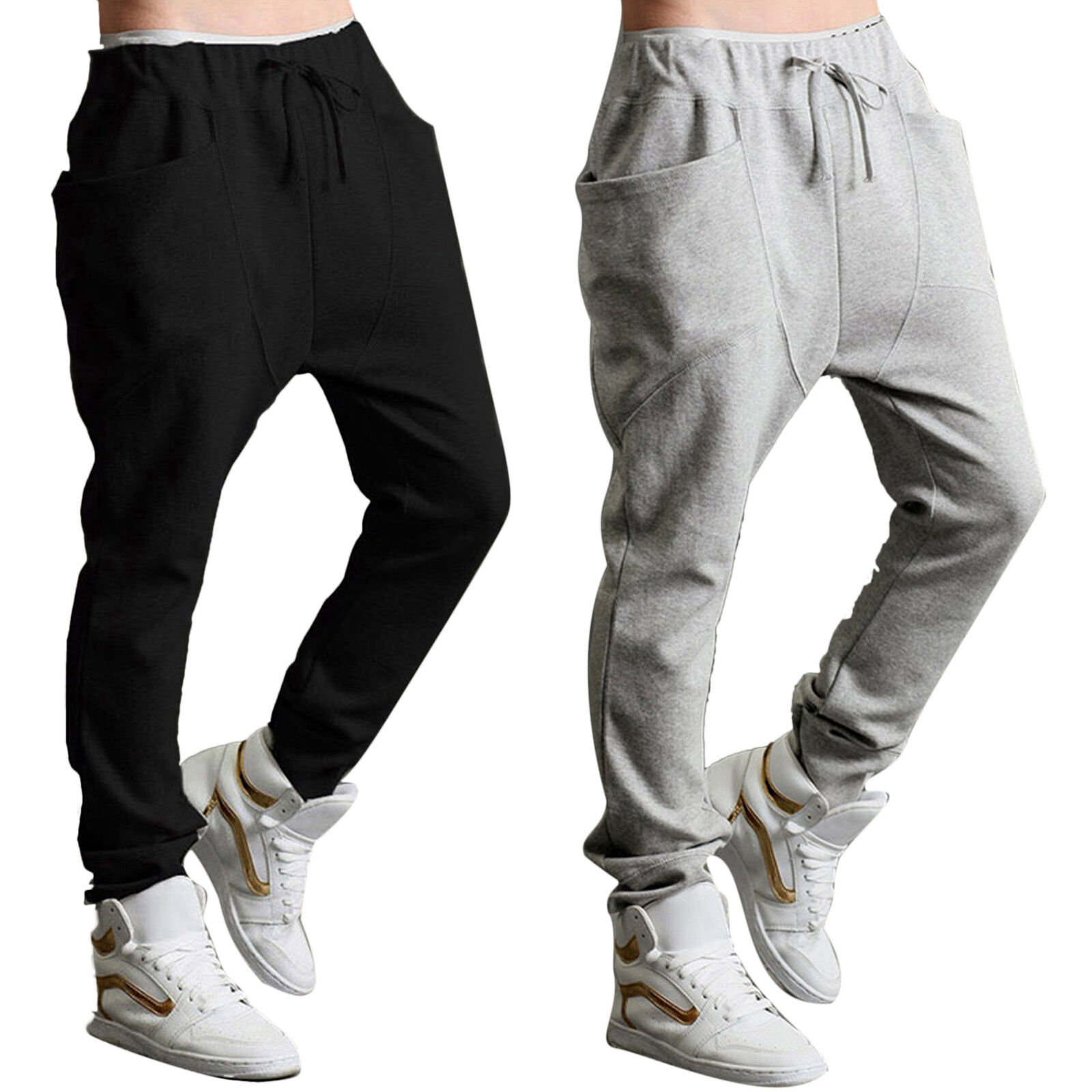 men sportswear jogger baggy harem pants slacks