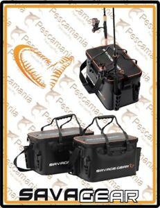 Borsa-Savage-Gear-Boat-amp-Bank-PVC-impermeabile-con-porta-canne-area-game