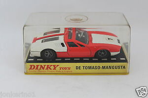 DINKY-TOYS-187-DE-TOMASO-MAGUSTA-MADE-IN-ENGLAND-MECCANO-LTD-NIB-OR3-010