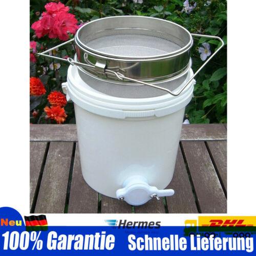 20L Honig Bucket Filter Honigschleuder Imkerei Honigeimer+Edelstahl Sifter