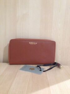 New 00 Zip Purse Large Rrp Modalu £59 Around Pippa Leather Brand Tan 6BP7FHq