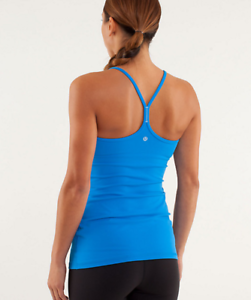 45e38bffcec1ba NWT Lululemon Power Y Tank ( Luon) Pipe Dream Blue Size 4 6 8 10 12 ...
