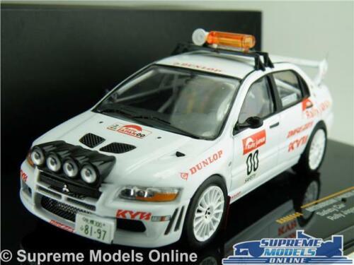 MITSUBISHI LANCER EVO VII MODEL SAFETY RALLY CAR JAPAN 1:43 SIZE IXO RAM444 T34Z