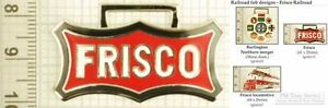 Frisco-railroad-decorative-fobs-various-designs-amp-keychain-options