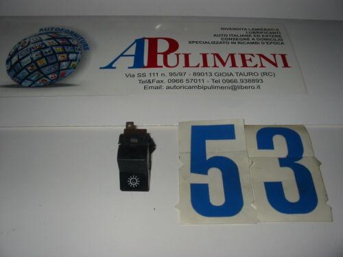 SWITCH 4158772 INTERRUTTORE LUCI STRUMENTAZIONE NERO FIAT X1//9-124-125-128