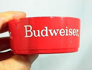 Details about BUDWEISER BEER RED ASH TRAY 3¾