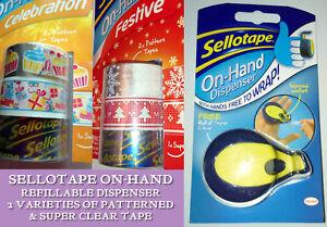 Sellotape On Hand Dispenser And 3 Packs Refills