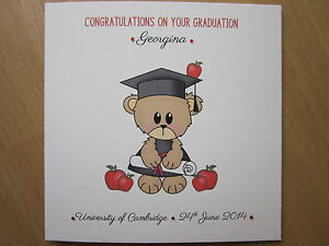 image is loading personalised handmade teddy bear congratulations on your graduation