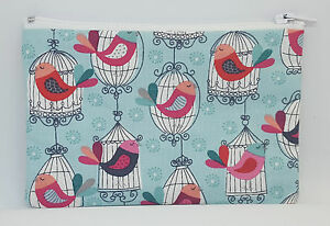 Beautiful-Bird-Cages-Fabric-Handmade-Zippy-Coin-Purse-Storage-Pouch