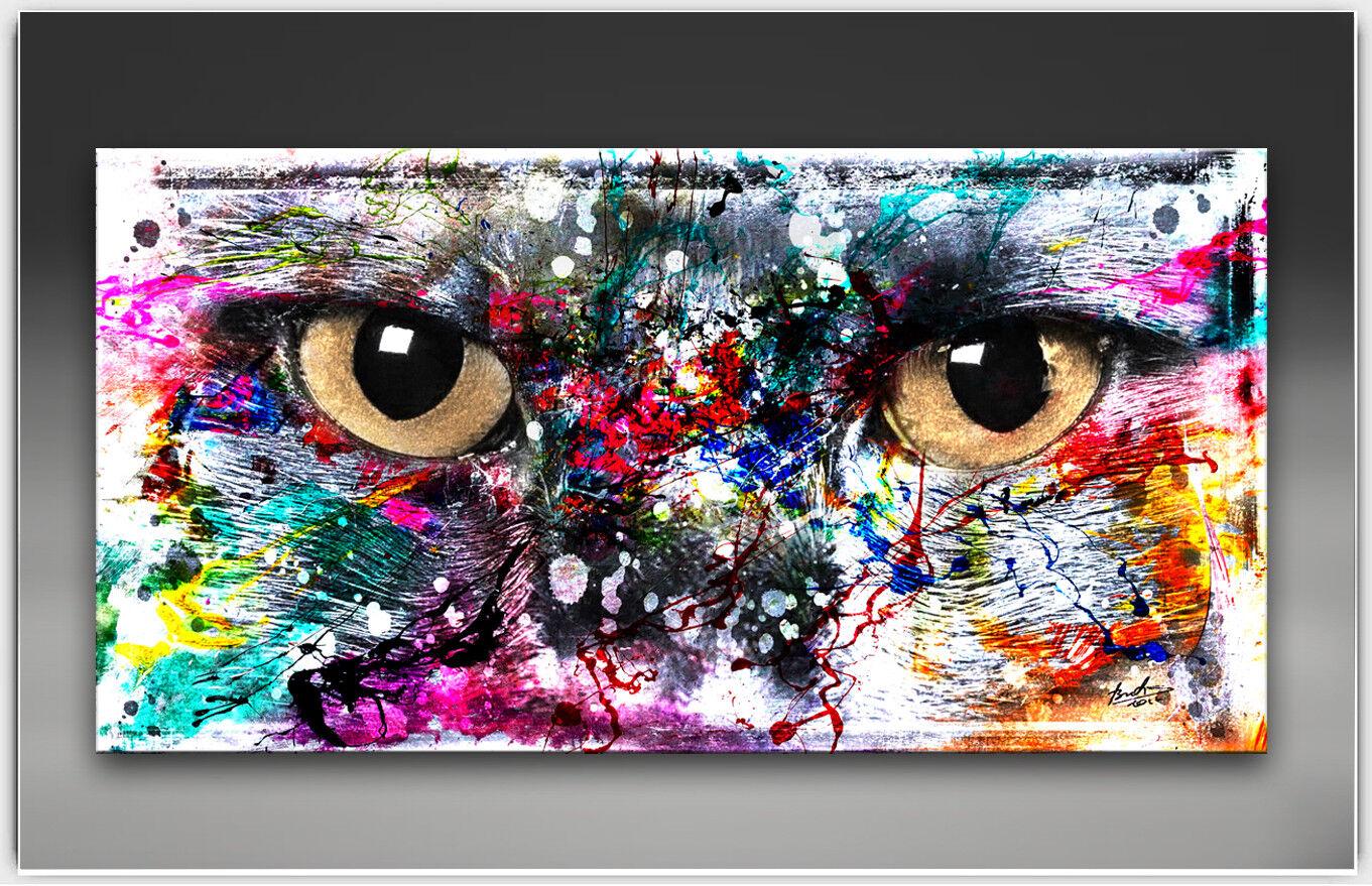 Chats Chats Chats œil abstrait image sur toile d'art la fresque art pression XXL 2086 a | Matériaux Soigneusement Sélectionnés  52ca58