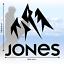 10cm x 9.5cm 2 x JONES Snowboard Logo Decal Stickers in Black Gloss