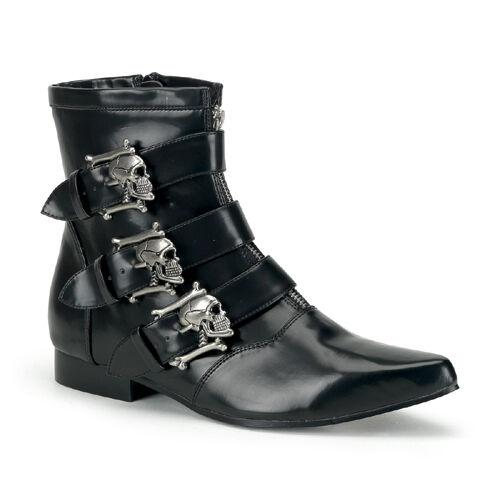 Demonia Black Gothic Winklepicker Boots Punk Goth Mod Rockabilly 8 9 10 11 12 13