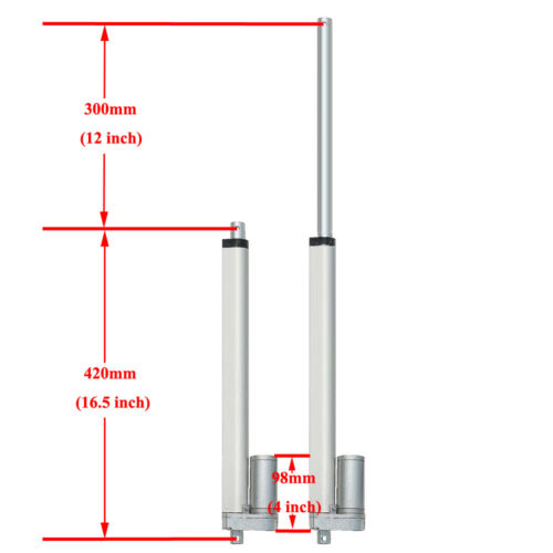 Electric 1000N 14mm//s Linear Actuator Motor 12V DC Heavy Duty Auto Car Door Lift