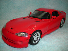 1/18 SCALE DIECAST 1996 DODGE VIPER 2DR GTS COUPE IN RED BY MAISTO NO BOX.