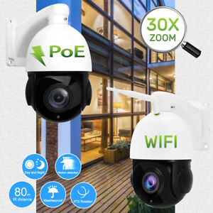 WIFI-POE-PTZ-IP-Security-Camera-HD-1080P-30X-Zoom-Pan-Tilt-Outdoor-Waterproof