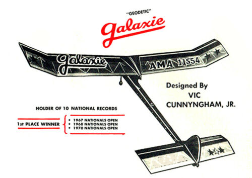 """FF : Geodetic Galaxie ½A 48/"""" 312s.i.321 Kyosho Model Airplane Plans"""
