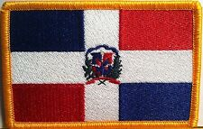 REPUBLICA DOMINICANA FLAG  Iron-On Patch  Military Dominican Emblem Gold Border
