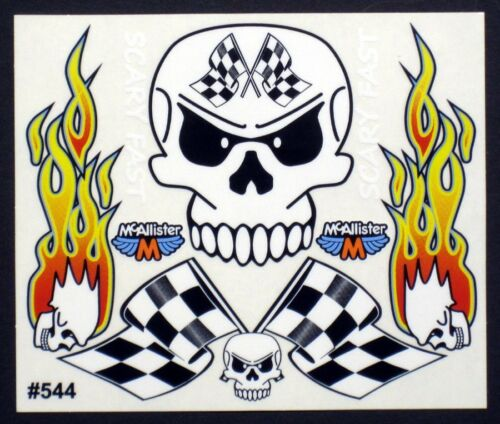 RC Car Decals, 1/10th, Scary Fast Skull, Late Models,Stock Car, Oval #544