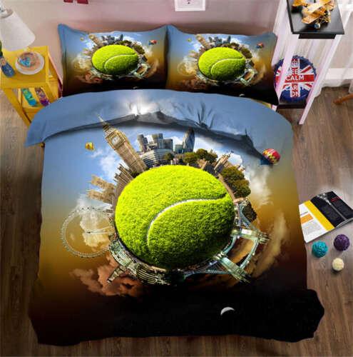 Tennis Like Star 3D Printing Duvet Quilt Doona Covers Pillow Case Bedding Sets