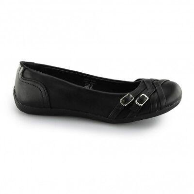 US BRASS ALYSSA Girls School Shoes Black UK 5 EU 38 JS39 95