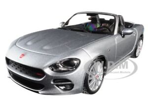 FIAT-124-SPIDER-COUPE-GREY-1-24-DIECAST-MODEL-CAR-BY-BBURAGO-21083